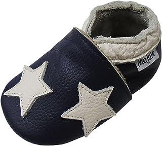 1acab9e229b52 Mejale Chaussons Enfant Bébé en Cuir Doux-Chaussons Cuir Souple-Chaussures  Premiers Pas-