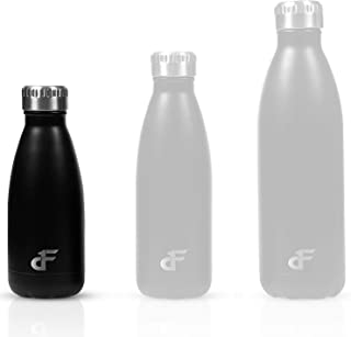 Day 1 Fitness Stainless Steel Water Bottle Narrow Mouth with Screw Lid (12 oz, 17 oz, or 25 oz) - 3 Size and 8 Color Optio...