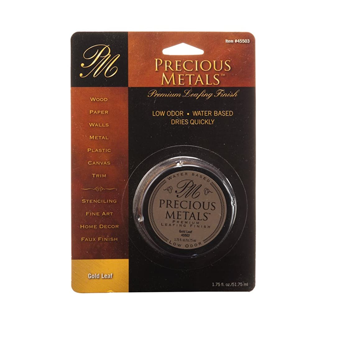 Precious Metal 45503 1.75-Ounce Gold Leaf Metals Premium Leafing Finish, 1-Pack
