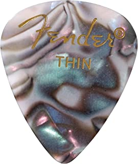Fender 351 Shape Premium Picks (12 Pack) for electric guitar, acoustic guitar, mandolin, and bass, 351 - Thin, Multicolor...