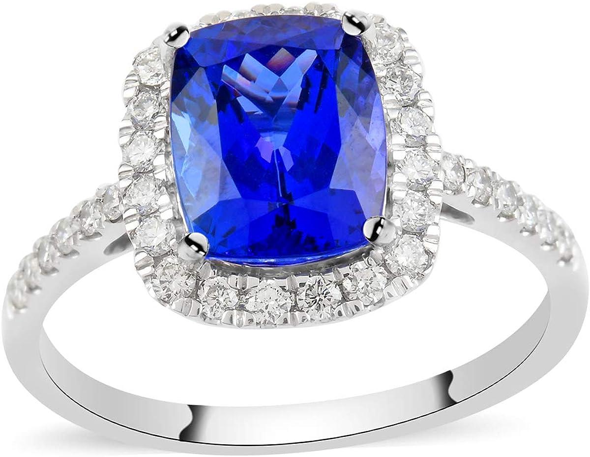 Real Diamond RHAPSODY Halo Quality inspection Ring 950 Cheap SALE Start Blue Platinum White AAAA Tan