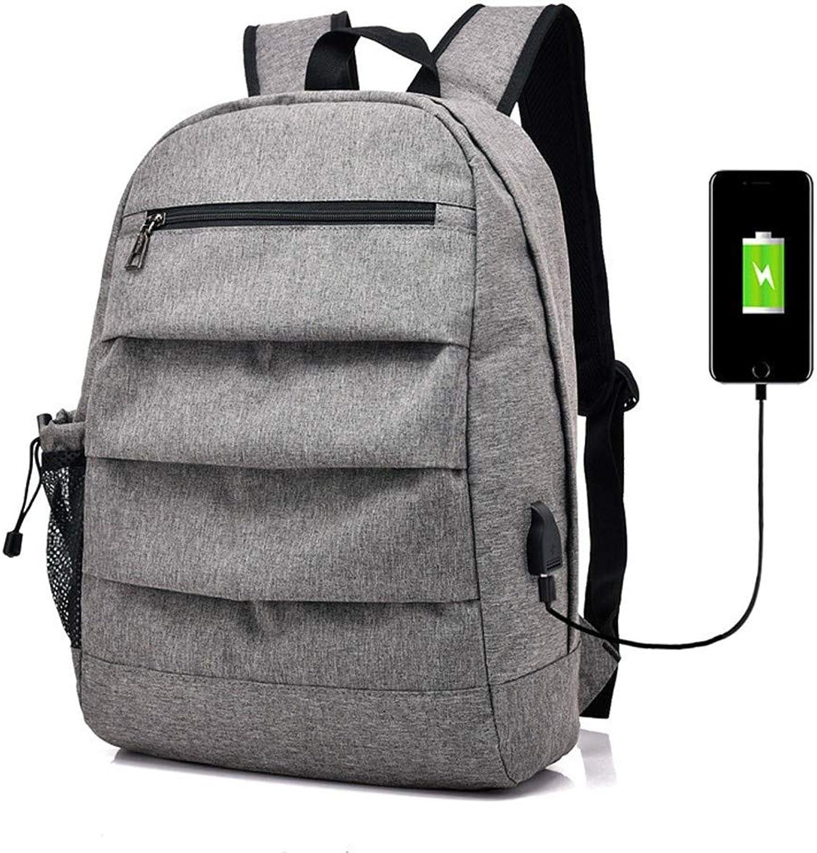TDPYT College-Student-Tasche USB-Aufladung Umhängetasche Reiserucksack Grau B07H84JX2F  Rechtzeitige Aktualisierung