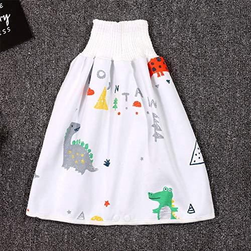 Xpccj Falda de pañales para bebé para niños, impermeable, absorbente, pantalones cortos, falda para bebé
