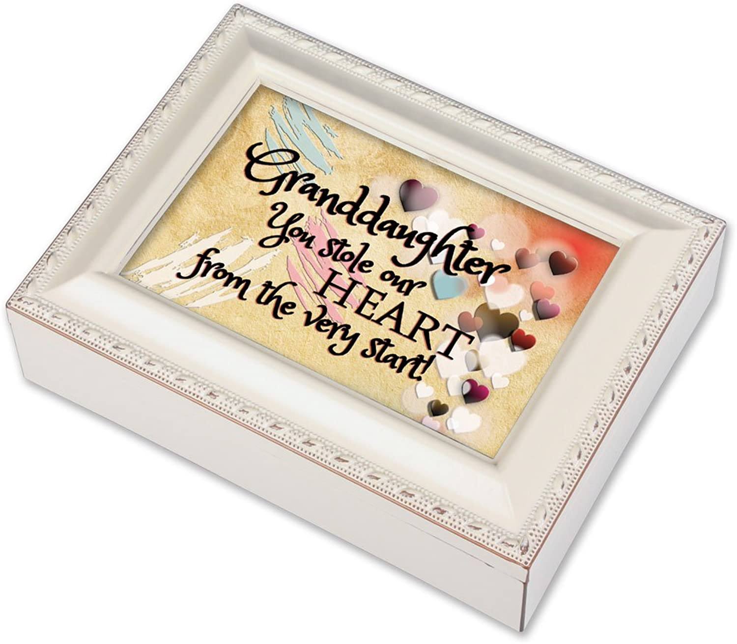 Cottage Garden Granddaughter Ivory Music Box Jewelry Box Plays You Light Up My Life