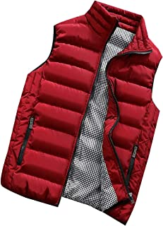 Men's Casual Fashion Sleeveless Stand Collar Quilted Puffer Down Vest Outwear