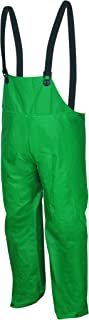 MCR Safety 388BFXL Dominator PVC/Polyester Bib Overall with Elastic Adjustable Suspenders, Green, X-Large