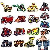 Meetlight 16 parches de parche para autobuses, coches de carreras, camiones de fuego, caravanas, parches para planchar o coser para niños, manualidades, jeans, ropa, chaquetas, mochilas