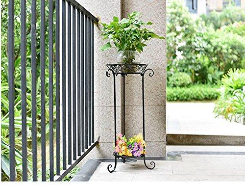 QFF Réservoir de réservoir d'eau de plancher fer à repasser balcon à fleurs à plusieurs étages balcon salon étagères à fleurs de style européen ( taille : 32*64.5cm )