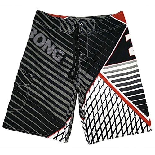 YOUJIA Leisure Pantalones Shorts Playa Surf Trajes De Baño para Hombre Rojo M