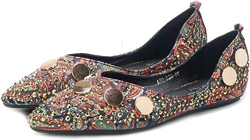 LITHAPP LITHAPP Chaussures De Demoiselle D'Honneur Chaussures Plates Les Les dames Occasionnels Bureau Mocassins Strass Chaussures De Mariage  le prix le plus bas
