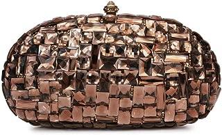 Honana Party Bags for Women Lady Rhinestone Dinner Bag Lady Handmade Bags Elegant Banquet Clutch Bag Shoulder Chain Bag Dress Hard Shell Gift Women's Fashion
