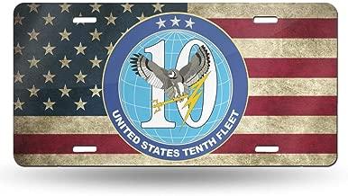 KARCARTAG US Navy 10th Fleet Novelty License Plate Tag Sign Car Accessories