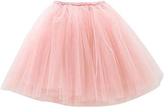 Falda Tutu con Capas de Danza Ballet Fiesta Boda Cumpleaños para Niña Princesa Cintura Elástica