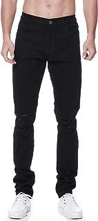 Men's Ripped Denim Jeans Distressed Biker Holes Skinny Slim Fit Stretchy Tapered Pants