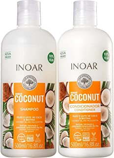 Kit Inoar Shampoo + Condicionador 500ml Bombar Coconut