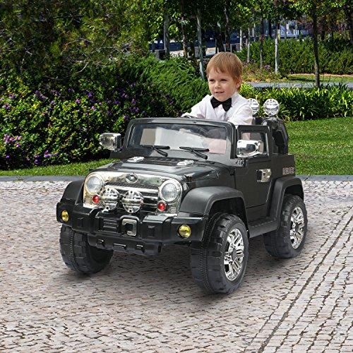 RC Kinderauto kaufen Kinderauto Bild 1: HOMCOM Elektroauto Kinderauto Kinderfahrzeug Kinder Elektro Auto Fahrzeug Spielzeug (Jeep/schwarz)*