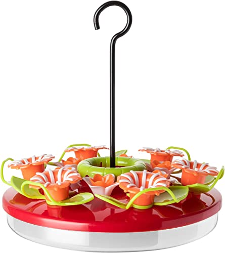 discount ORIENTOOLS Hanging Hummingbird Feeder Novel Plastic Flower Feeder Anti-ant Moat 12 Feeding lowest Stations 16.4 oz, online sale Easy to Clean outlet online sale