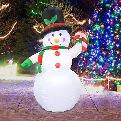 MerryXGift Christmas Inflatable Snowman 6ft - Xmas Airblown Inflatable Blow up Decorations for Yard Outdoor Garden Lawn