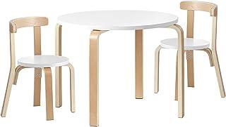 Keezi Nordic Kids Table Chair Set 3PC Desk Activity Study Play Children Modern