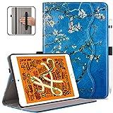 VORI Case for New iPad Mini 5/iPad Mini 4, Leather Folio Stand Smart Cover with Auto Wake/Sleep and Hand Strap for iPad Mini 5th Gen 2019 Released/iPad Mini 4th Gen 2015 7.9 inch, Almond Floral