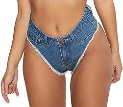 Oflive Women's Sexy High Waisted Stretch Mini Denim Shorts Hot Pants Clubwear