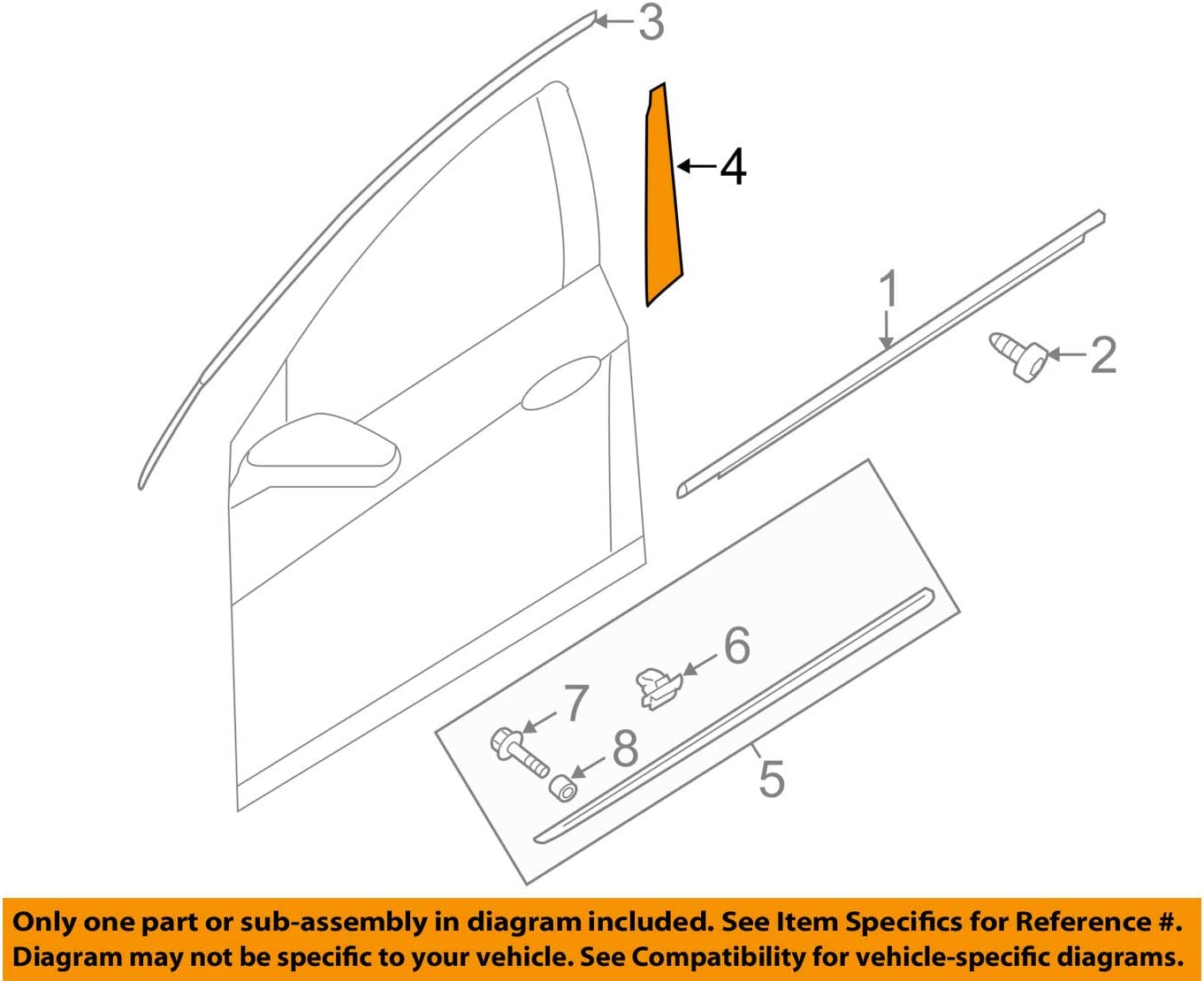 Genuine Hyundai 86373-3S010 100% quality warranty Frame Trust Tape Door