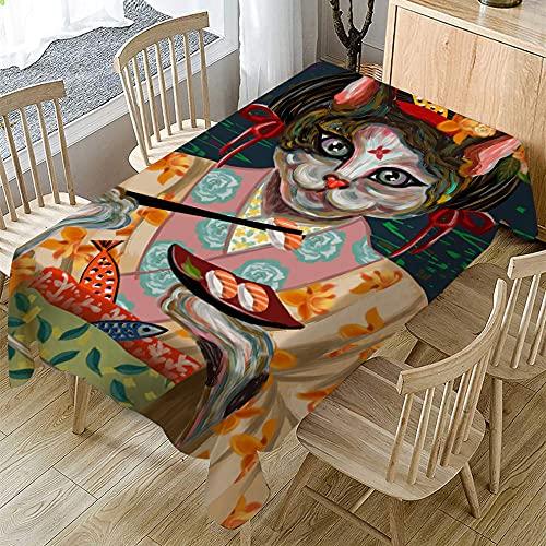 Tovaglia Antimacchia Tovaglie Piazza 90x90cm Anti Rughe Tablecloth Tovaglia da Pranzo in Lino di...