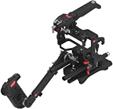 JTZ DP30 JL-JS7 Camera Cage Stabilizer with 15mm Rail Rod Base plate Rig + Electronic Top Handle + Shoulder Pad and Hand Grip for SONY A7 A7II A7R A7RII A7S A7SII Mirrorless Cameras