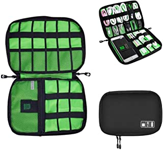 Universal Cable Organizer Bag for Travel and Houseware Storage, M&J Small Electronics Accessories Cases for Various USB Ca...