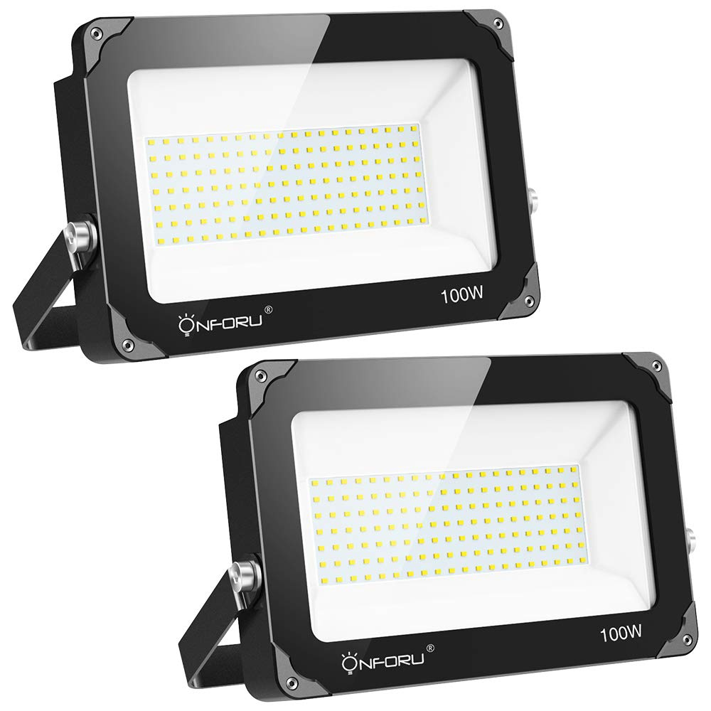 Onforu 100W Foco LED Exterior (2 Pack) 10000LM Super Potente ...