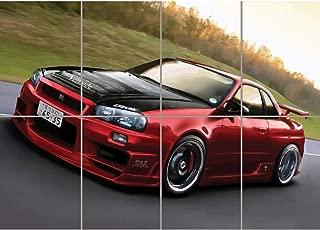 Doppelganger33LTD NISSAN SKYLINE R34 RED SPORTS RALLY CAR GIANT PICTURE ART PRINT POSTER MR451