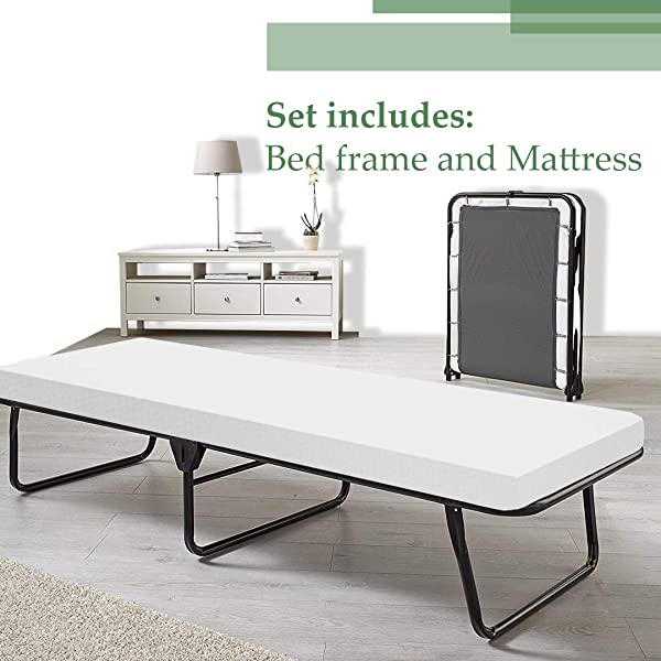 Spinal Solution Fully Assembled Portable Folding Cot Bed 31 Inch