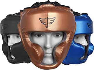 Jayefo Sports Head Guard for {Boxing} {MMA} { Kickboxing} { Muay Thai} {SELF Defence} TRAININIG Gear Protection Helmet Mar...