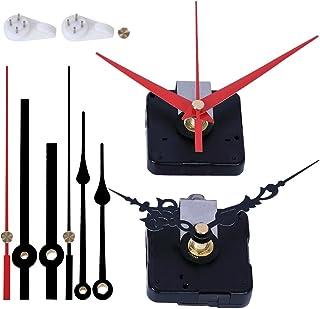 EMOON 2 Pack Wall Clock Movement Mechanism with 4 Pack Clock Hands, Silent Sweep Quartz Clock Motor Kit, for Clock Repair ...