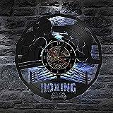 TeenieArt Reloj de Pared con Disco de Vinilo Deportivo de Boxeo Reloj de Pared de 12 Pulgadas Reloj de Sala de Estar sin led
