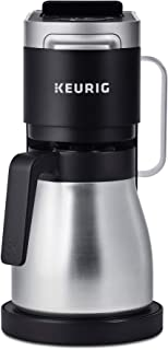 Keurig K-Duo Plus Coffee Maker, Single Serve and 12-Cup Drip Coffee Brewer, Compatible with K-Cup Pods and Ground Coffee, Black (Renewed)