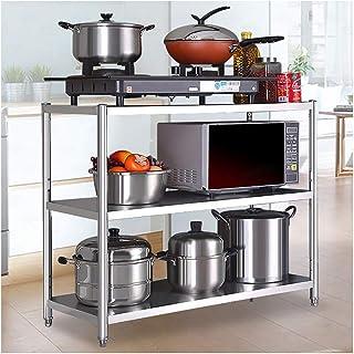 WSCC Grille de Four à Micro-Ondes Cuisine en Acier Inoxydable en Rack Ménage Plancher Multilayer Support de Rangement Four...