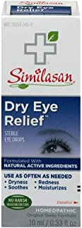 Similasan Dry Eye Relief Sterile Eye Drops 0.33 Ounce (Value Pack of 2)