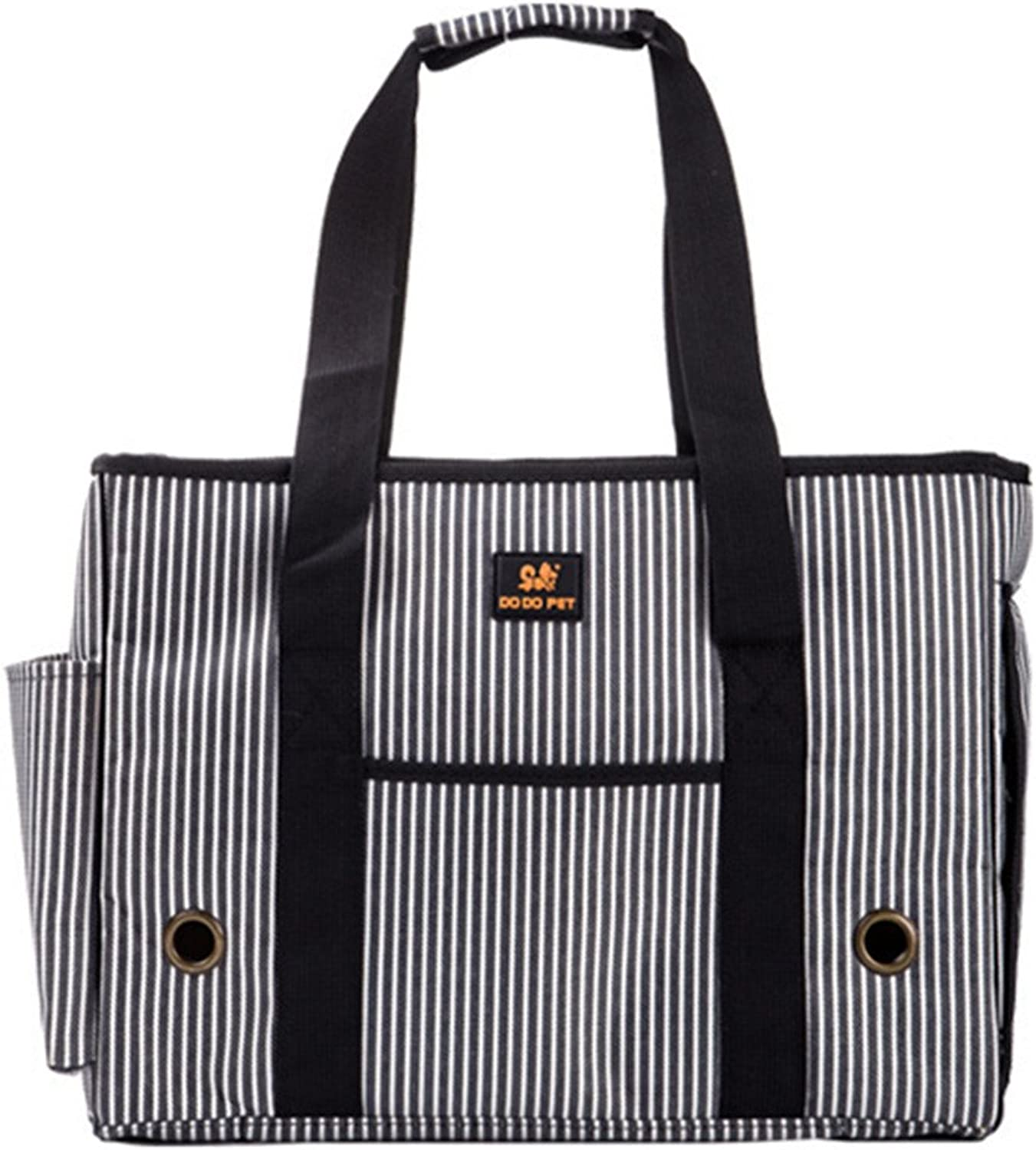 KAIPet dog package single out shoulder bag carrying case package can be folded breathable,39X18X29cm,White stripes