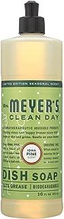 Mrs. Meyer's Clean Day Liquid Dish Soap 6 Pack - Iowa Pine Scent - 16 oz Each