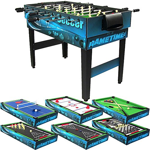 Sunnydaze Decor 10 Combination Multi Game Table With Billiards, Push Hockey, Foosball, Ping Pong, and More, 40 Inch