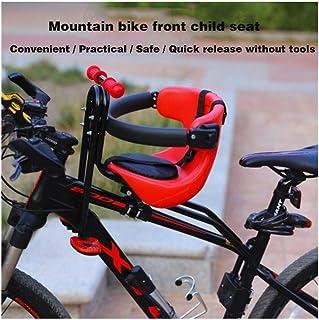 Asiento de la bicicleta infantil - Niños Niños Niños bebés y niños pequeños - Montaje delantero del portador de bebé del asiento portador de la bici con seguridad estándar con pasamanos - Accesorio gr