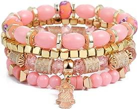 Bohemian Bracelet Carved Love Feather Tassel Bracelets for Women Jewelry Ethnic Vintage Bead Stone Charms Bangle
