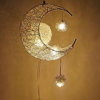 Lampada a sospensione a LED, Houkiper Fairy Light Lampada a sospensione a sospensione in alluminio Light Moon and Stars Fa...