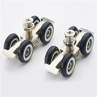 zwenkwielen met rem, Caster Wheels Set van 4 Casters Meubels Caster Schuifdeur Opknoping Ronde Glas Hardware Katrol Opknop...