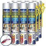 QUILOSA - Pack 12 espuma de poliuretano Quilosa Orbafoam O2-M1 con Cánula 750ml (Llavero...