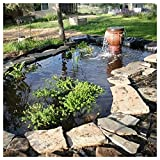 XJMF Revestimiento flexible de goma de HDPE, plegable, impermeable, para jardín, piscina, para depósito, pendiente de río, cascadas al aire libre, 0,2 mm, color negro