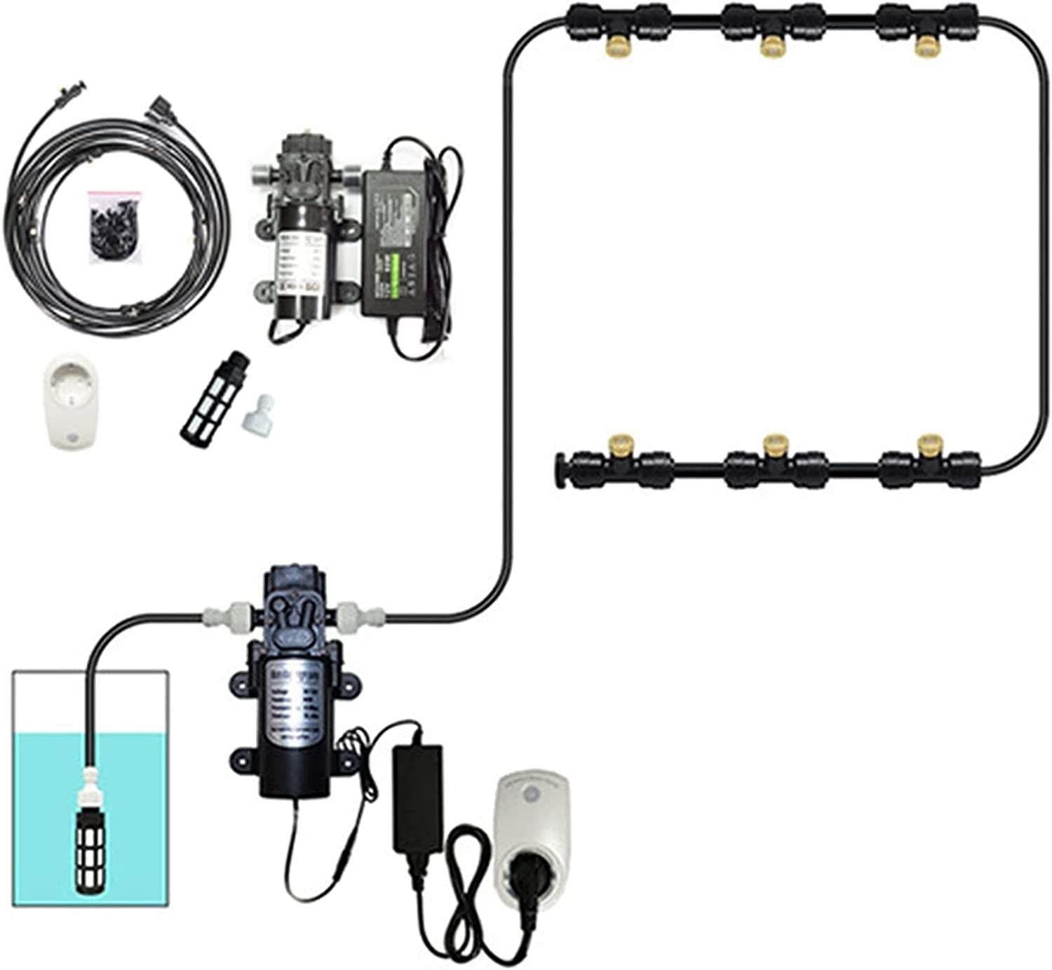Outdoor Misting Sale item Cooling System Kit with Filter Mis 35% OFF Pump and 12v