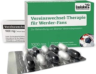 """Vereinswechsel-Therapie für Bremen-Fans   Lakritz-Schmerztabletten für Werder-Fans mit chronischen Vereinsdepressionen   Wähle gemein witzige Geschenk-Sets über """"Farbe"""""""