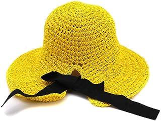 2019 Womens Hats Caps Womens Summer Sun Hat for Women Handmade Crochet Spring Straw Hat Travel Beach Holiday Seaside Folding Outdoor Sunscreen Visor Big Hat Fashion Casual